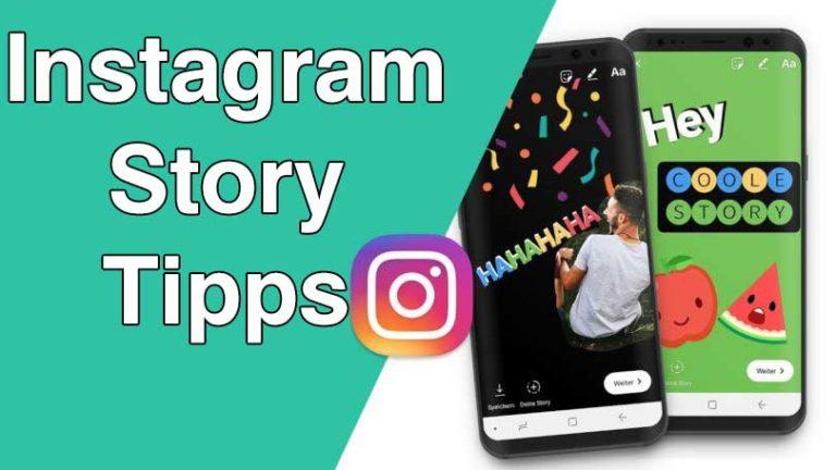 Instagram Story Tipps